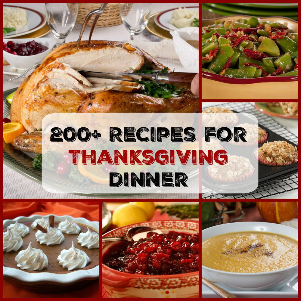 Thanksgiving Dinner Recipes  Easy Thanksgiving Menu 200 Recipes for Thanksgiving