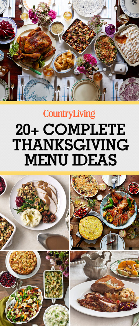 Thanksgiving Dinner Recipes  28 Thanksgiving Menu Ideas Thanksgiving Dinner Menu Recipes