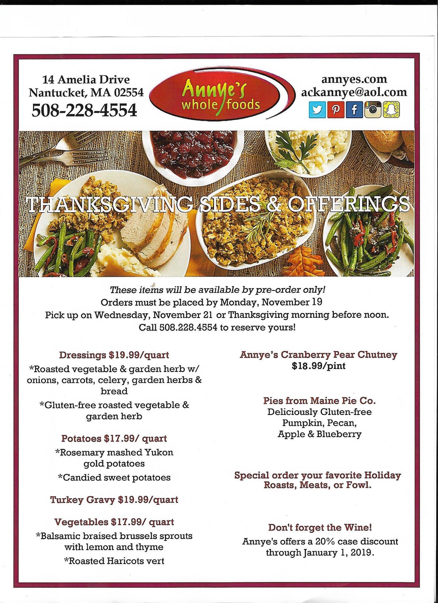 Thanksgiving Dinner Restaurant 2019  Thanksgiving and Nantucket Stroll 2018 Fisher s Holiday Tips
