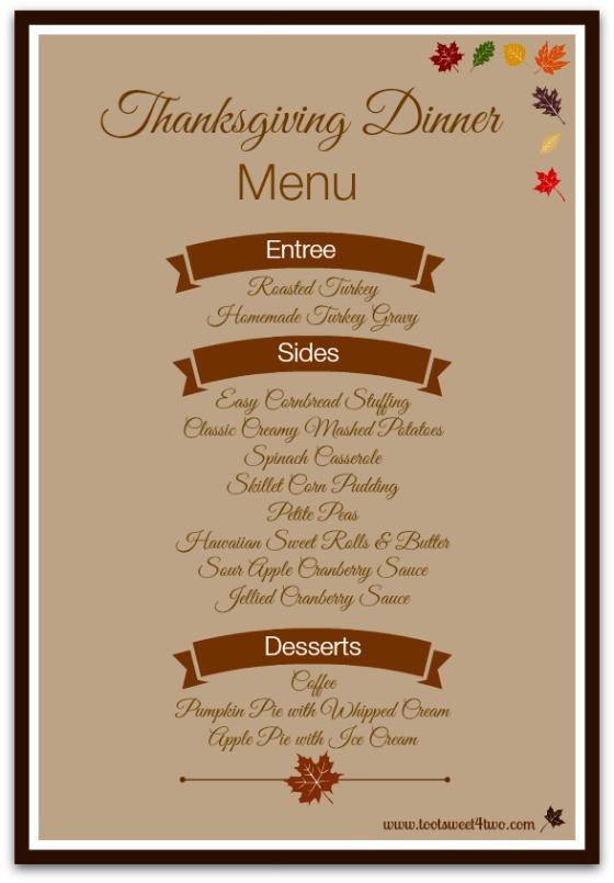 Thanksgiving Dinner Restaurant  42 Items for Your Thanksgiving Dinner Shopping List Toot