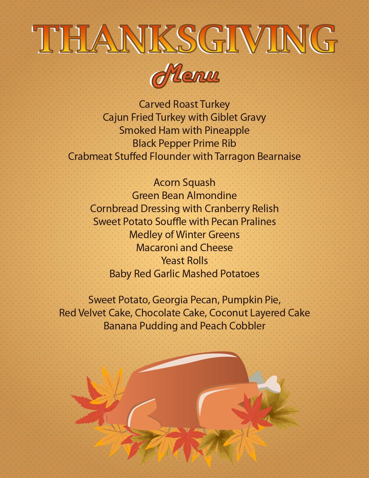 Thanksgiving Dinner Restaurant  Serving Thanksgiving Dinner Today from 4pm 8pm
