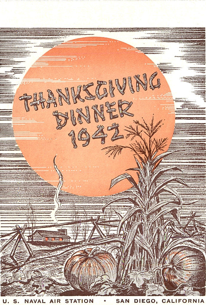 Thanksgiving Dinner San Diego  Escort Carrier Index USS BOGUE CVE 9