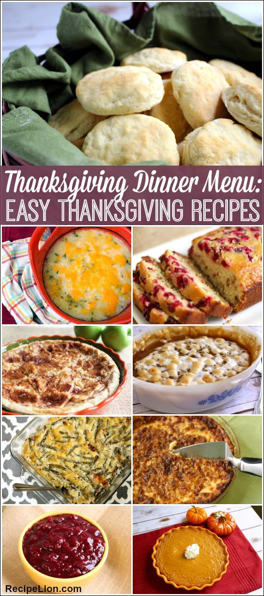 Thanksgiving Dinner Side Dishes Recipes  17 Best images about Easy Thanksgiving Recipes on
