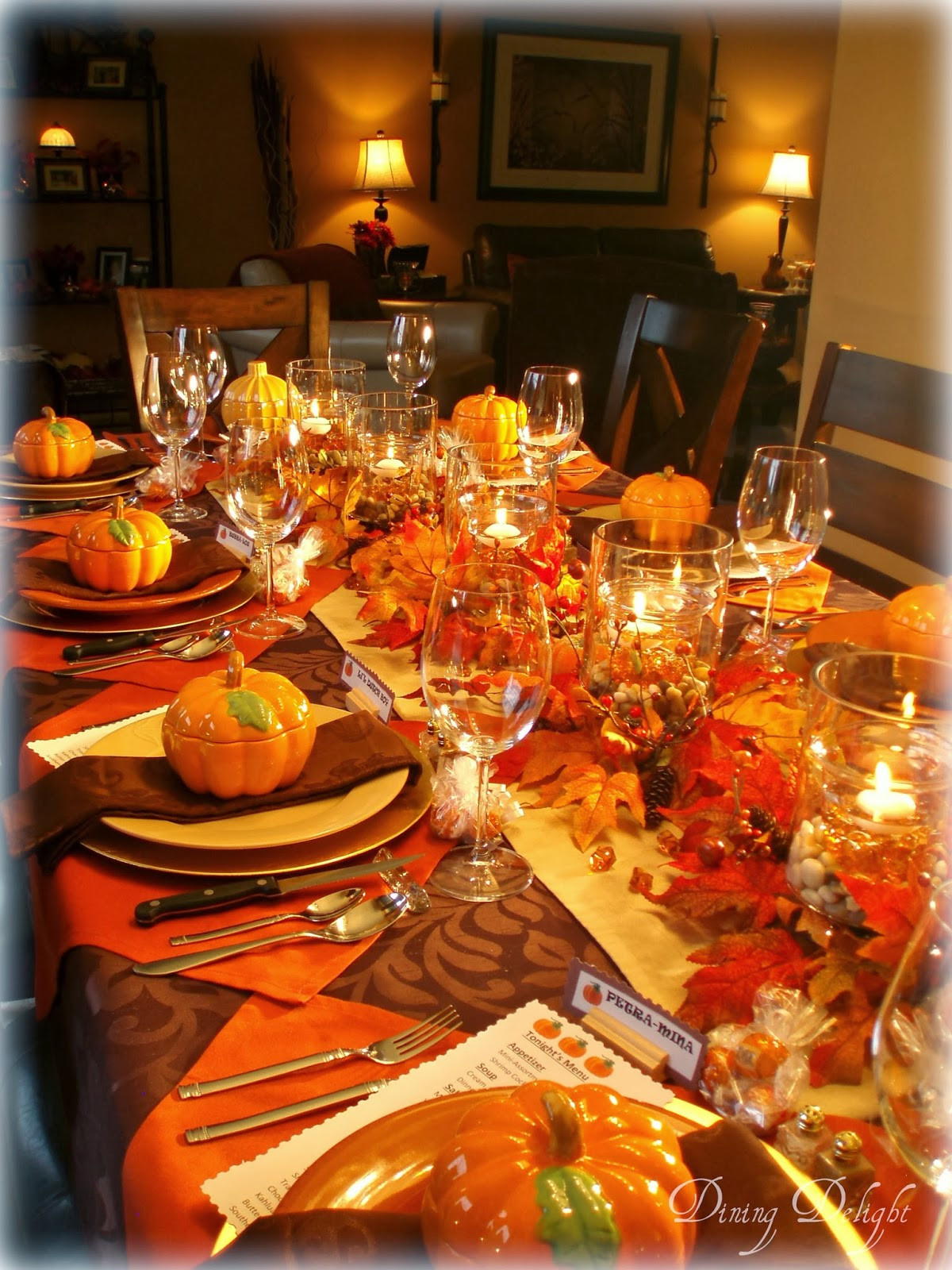 Thanksgiving Dinner Table  Dining Delight Fall Dinner Party for Ten