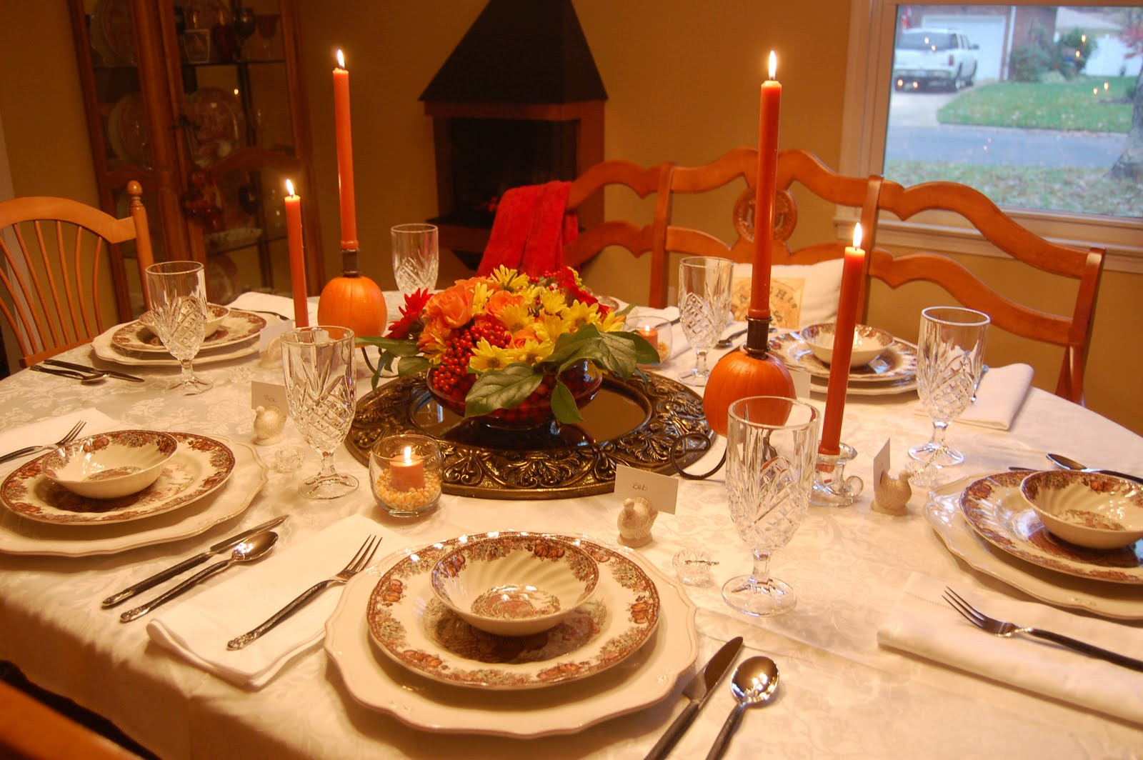 Thanksgiving Dinner Table  The Knife is Always Right How to Set the Perfect