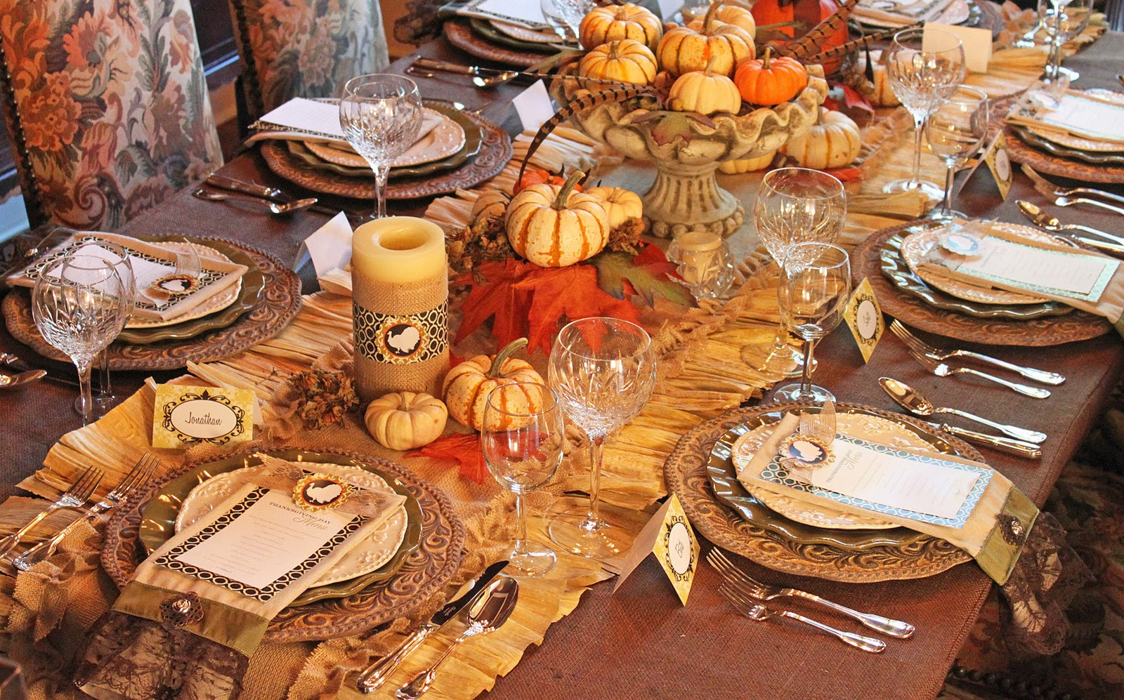 Thanksgiving Dinner Table Settings  Amanda s Parties To Go Thanksgiving Dinner Tablescape