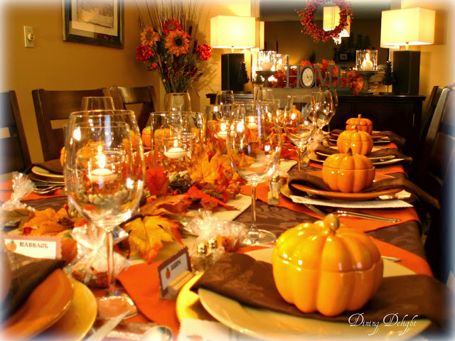 Thanksgiving Dinner Table Settings  Dining Delight Fall Dinner Party for Ten