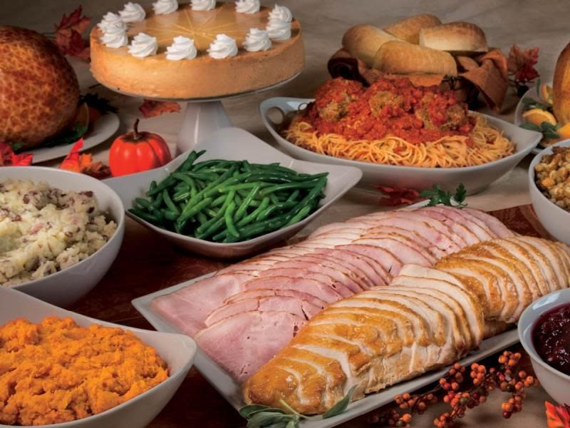 Thanksgiving Dinner Without Turkey  Life With 4 Boys Buca di Beppo Thanksgiving Feast A