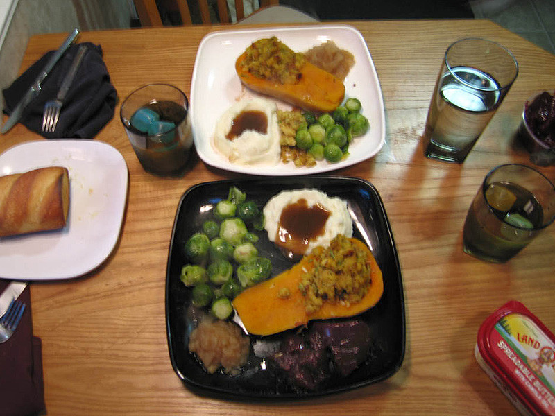 Thanksgiving Dinner Without Turkey  Roast Squash Make Great Ve arian Thanksgiving Dinner in