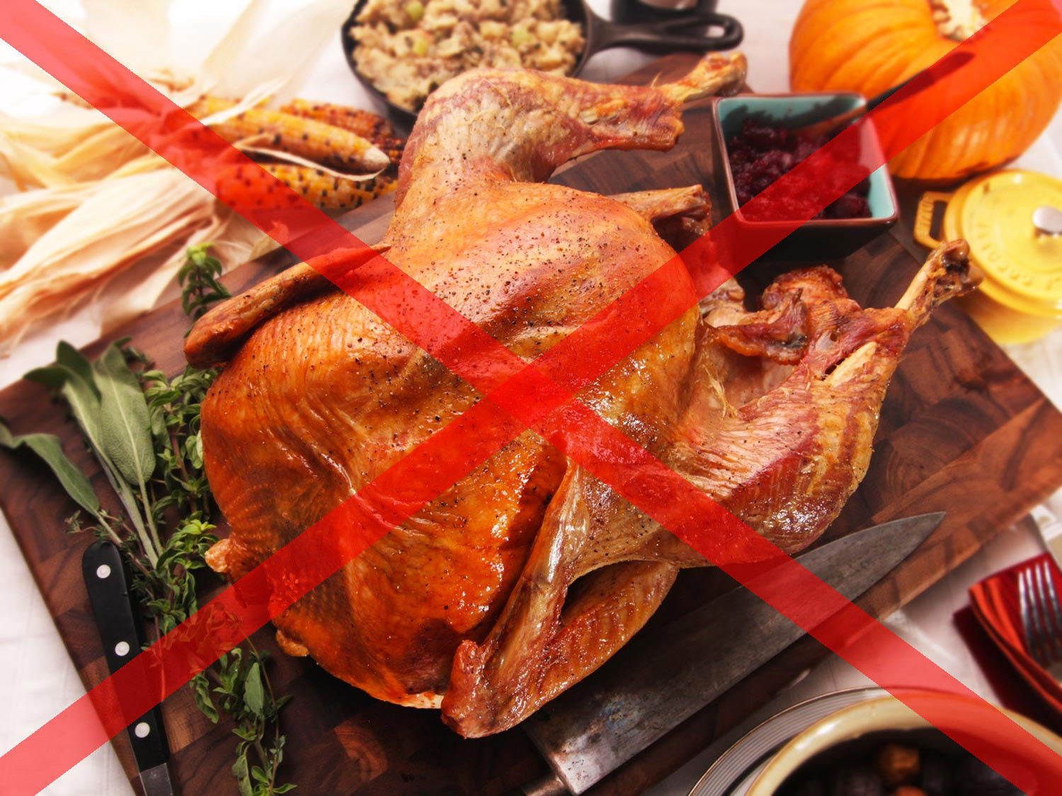 Thanksgiving Dinner Without Turkey  In Praise of a Turkey Free Thanksgiving