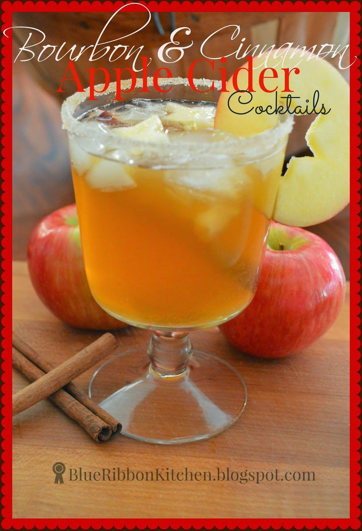 Thanksgiving Drinks For A Crowd  Bourbon & Cinnamon Apple Cider Cocktails Easy to make for