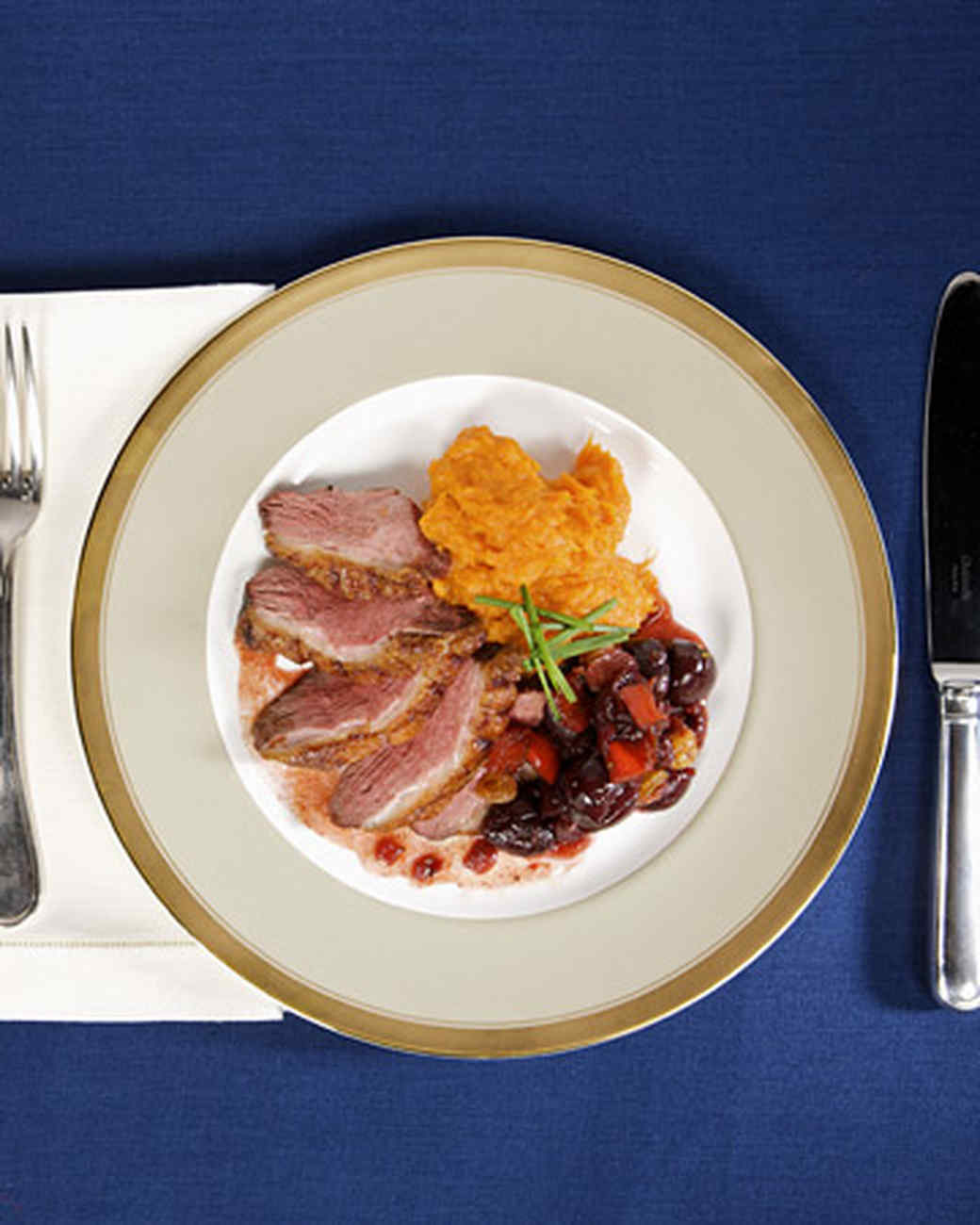 Thanksgiving Duck Recipes  Duck Breast with Cherry Chutney Recipe & Video