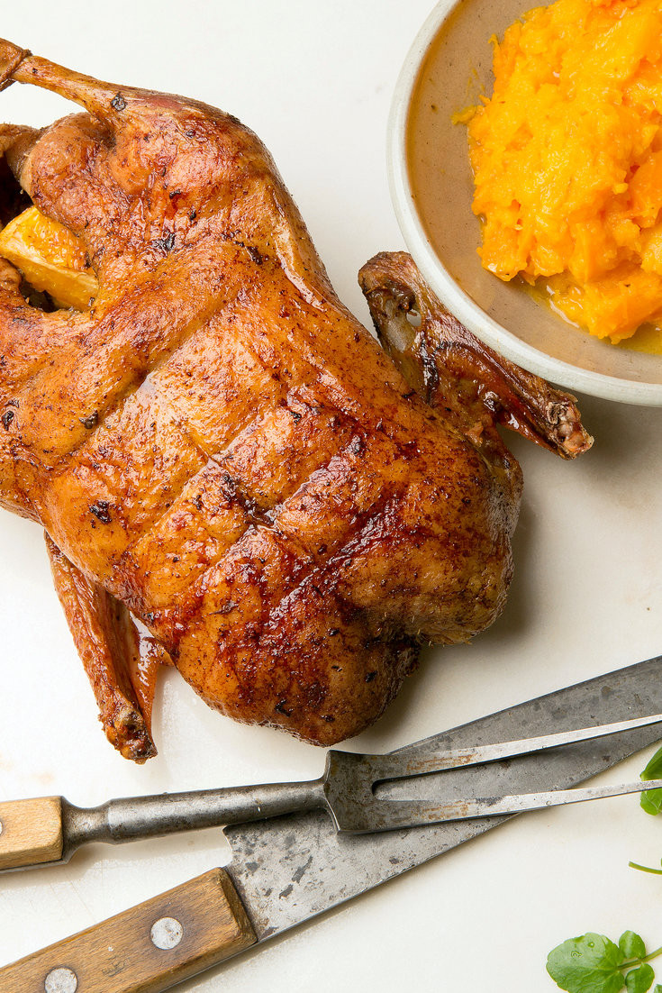 Thanksgiving Duck Recipes  Roast Duck with Orange and Ginger Recipe NYT Cooking