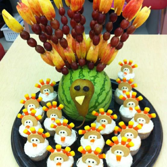 Thanksgiving Fruit Turkey  Fruit Turkey