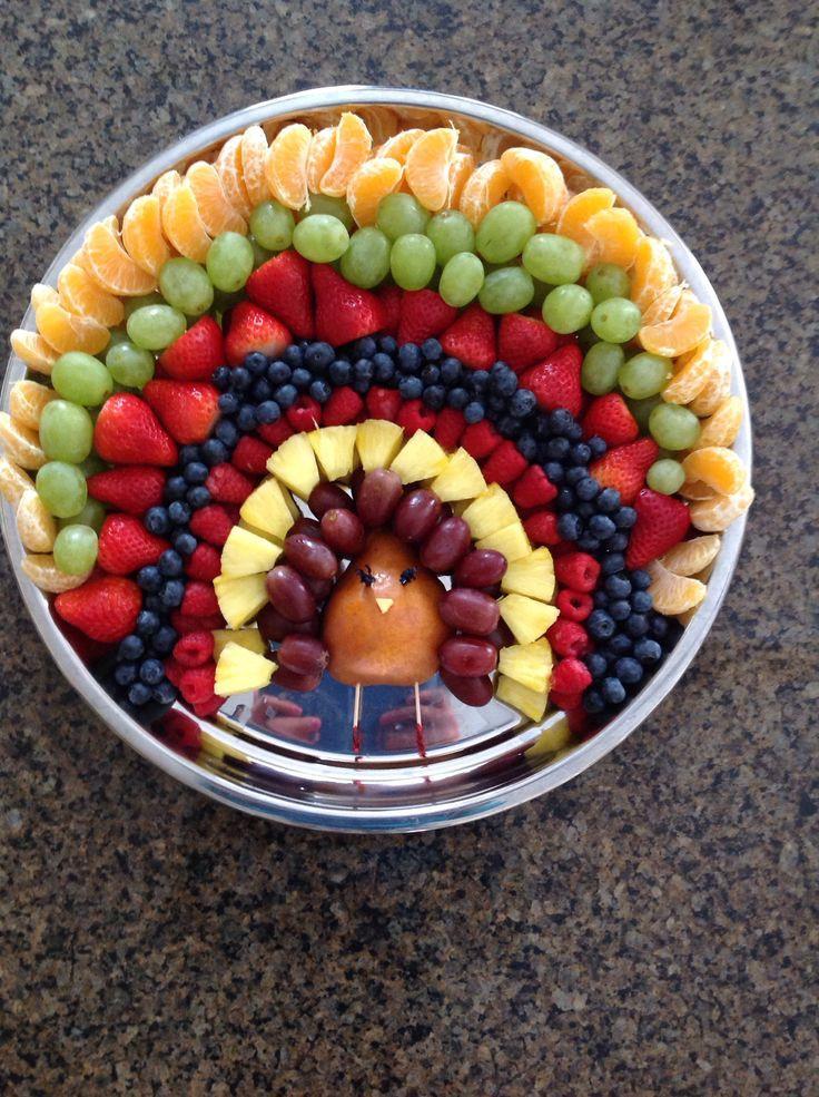 Thanksgiving Fruit Turkey  Turkey and Fruit on Pinterest