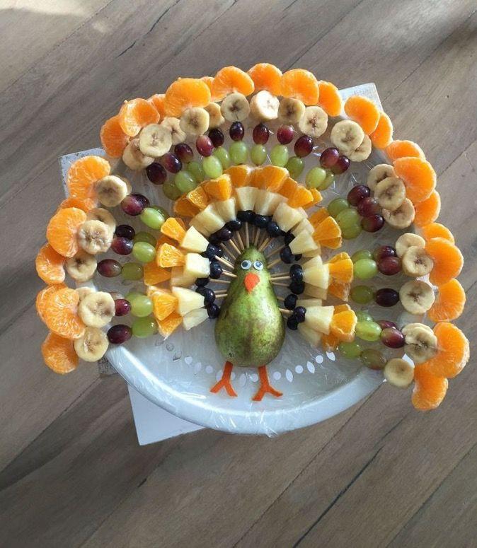 Thanksgiving Fruit Turkey  Greta Landis Enfeslerr Pinterest