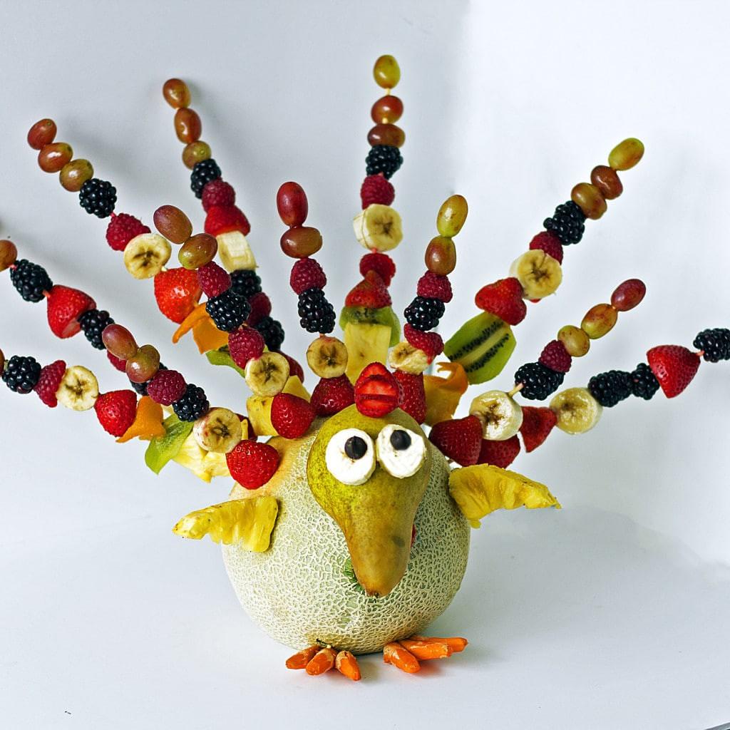 Thanksgiving Fruit Turkey  FRUIT TURKEY with CHOCOLATE FONDUE VIDEO  Grain Free