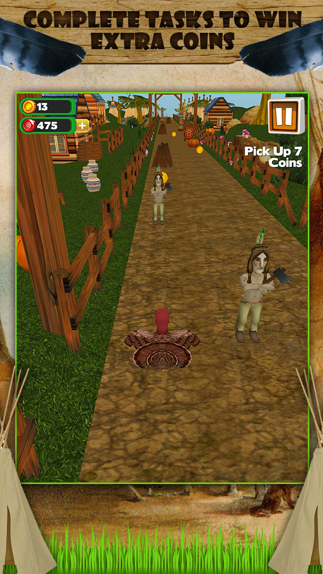 Thanksgiving Games Turkey Run  3D Turkey Run Thanksgiving Infinite Runner Game FREE ios