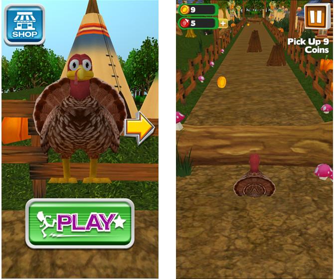 Thanksgiving Games Turkey Run  10 Terrific Thanksgiving Apps for iPhone