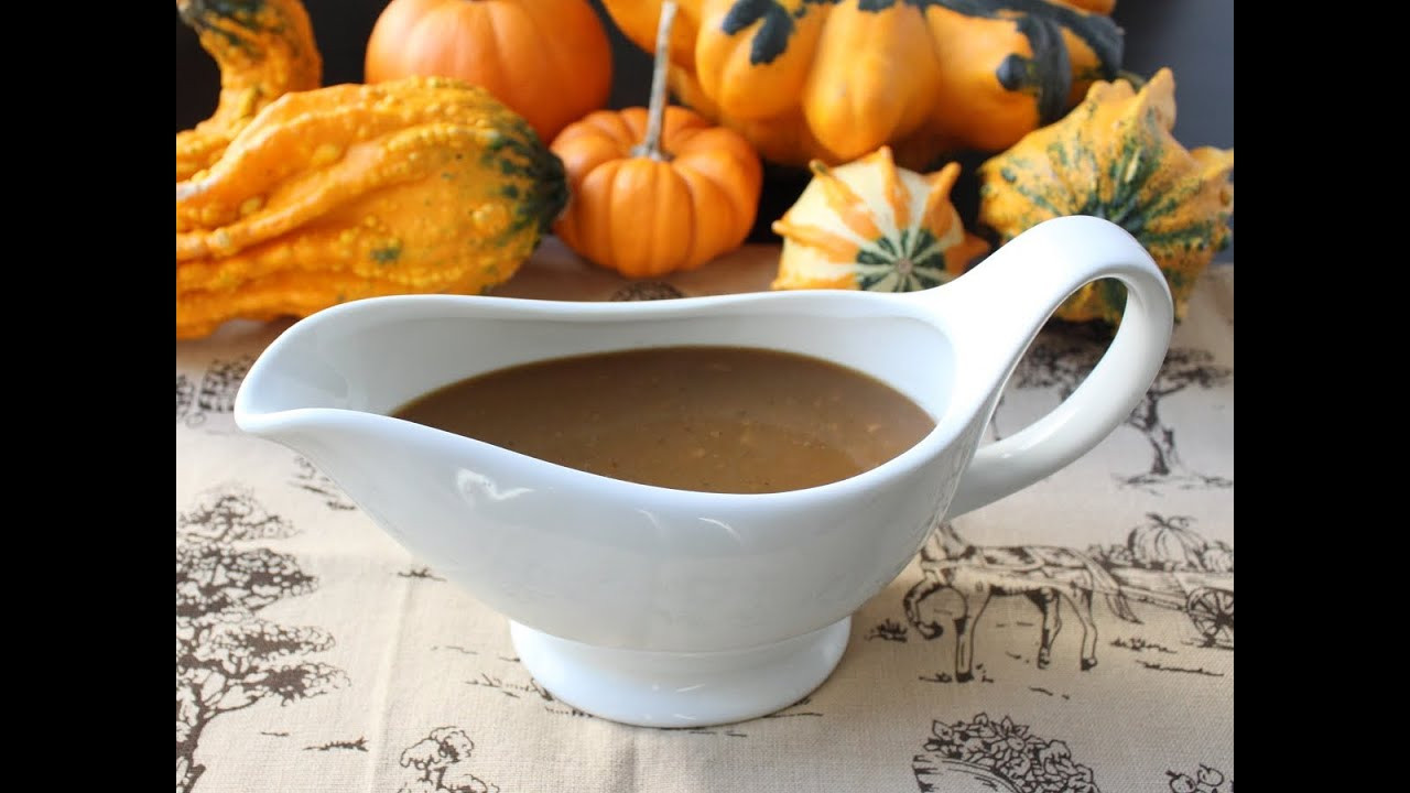 Thanksgiving Gravy Recipe  Turkey Gravy with Porcini Mushrooms and Marsala Wine
