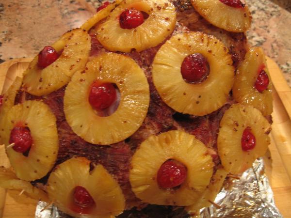 Thanksgiving Ham Recipes With Pineapple  Pineapple Mustard Glazed Ham Recipe Food