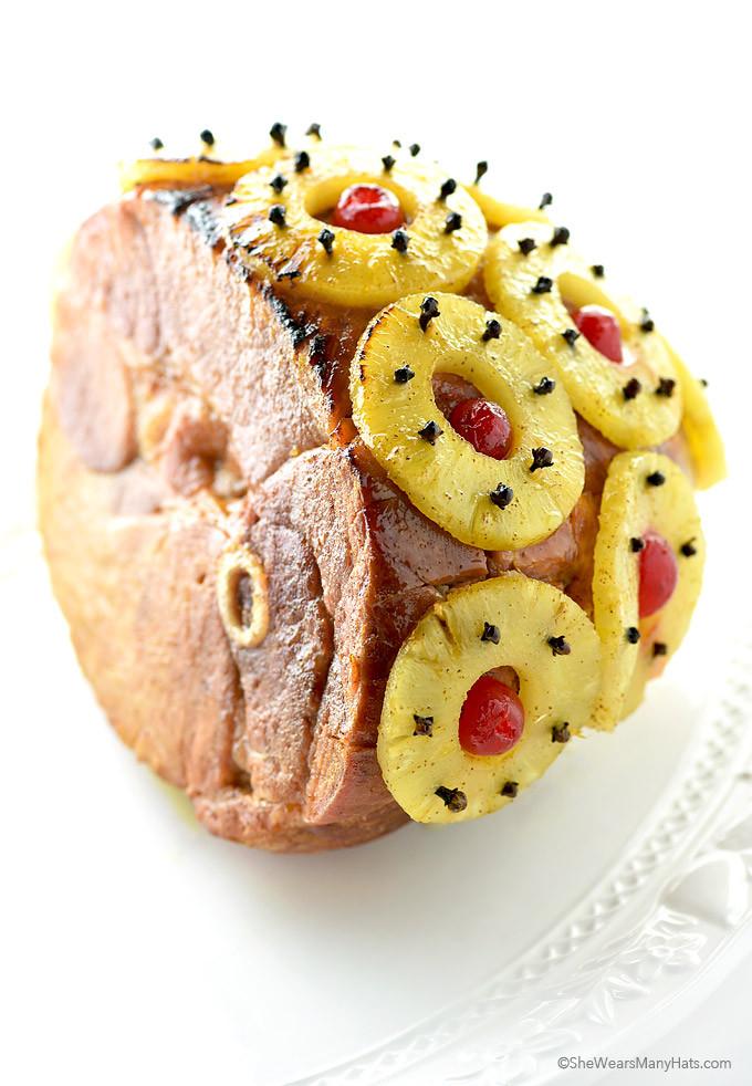 Thanksgiving Ham Recipes With Pineapple  Holiday Glazed Baked Ham Recipe