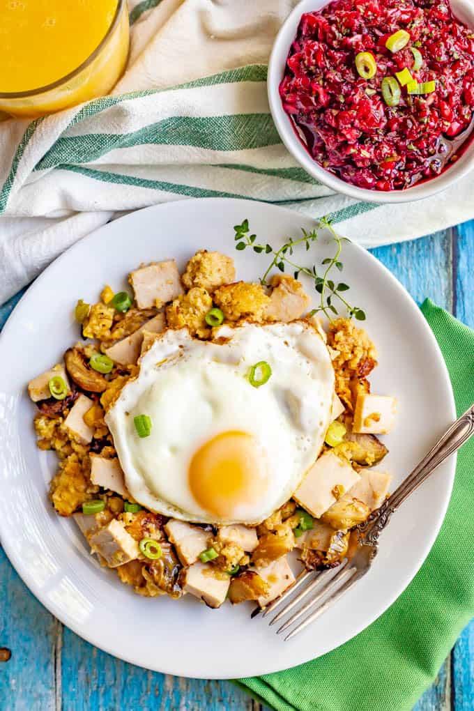 Thanksgiving Leftover Breakfast  Thanksgiving leftovers breakfast hash Family Food on the