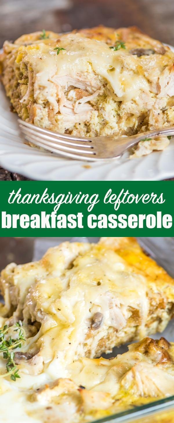 Thanksgiving Leftover Breakfast  Thanksgiving Leftovers Breakfast Casserole Make Ahead or