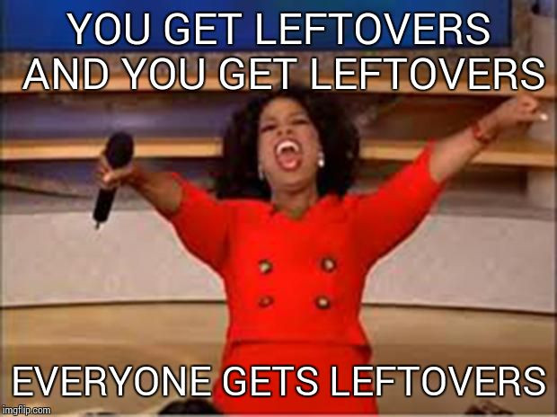Thanksgiving Leftovers Meme  When leaving after thanksgiving dinner Imgflip