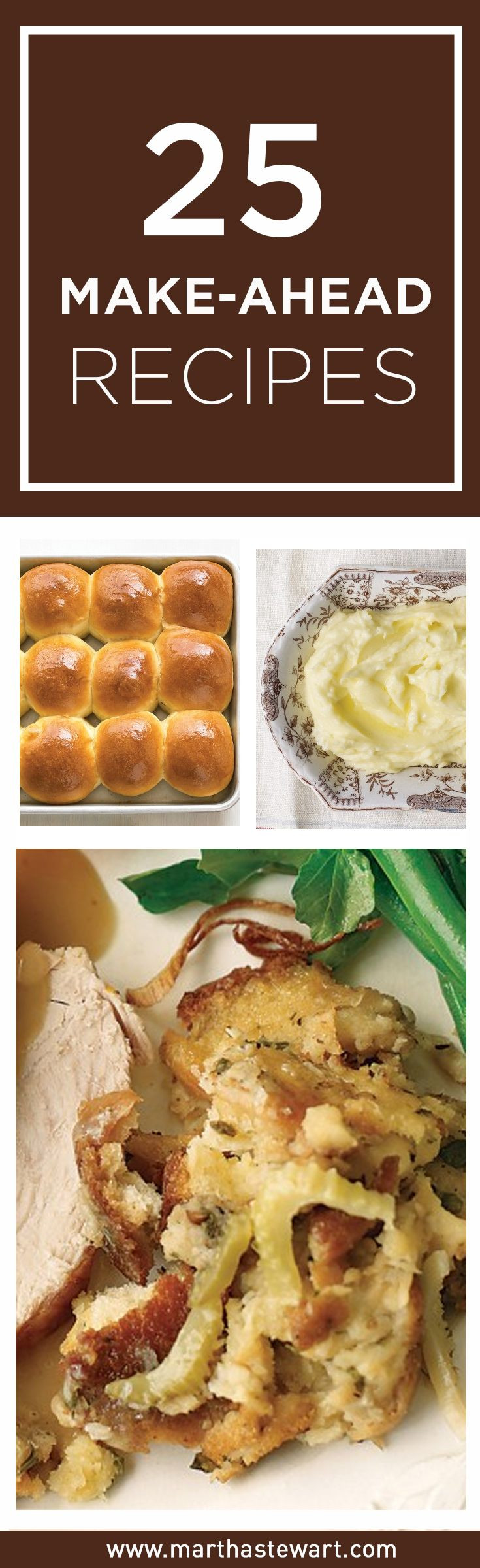 Thanksgiving Make Ahead Recipes  17 Best images about thanksgiving on Pinterest