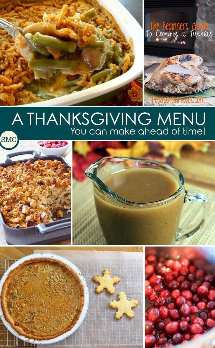 Thanksgiving Make Ahead Recipes  23 best images about Thanksgiving Make Ahead on