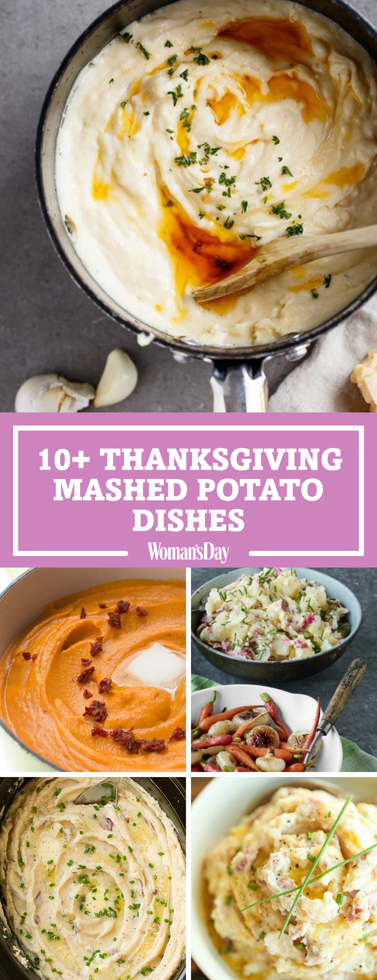 Thanksgiving Mashed Potatoes  14 Best Mashed Potato Recipes How to Make Mashed