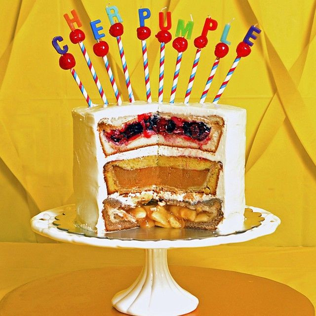 Thanksgiving Pies And Cakes  THANKSGIVING CHERPUMPLE THE TURDUCKEN OF DESSERTS It's a