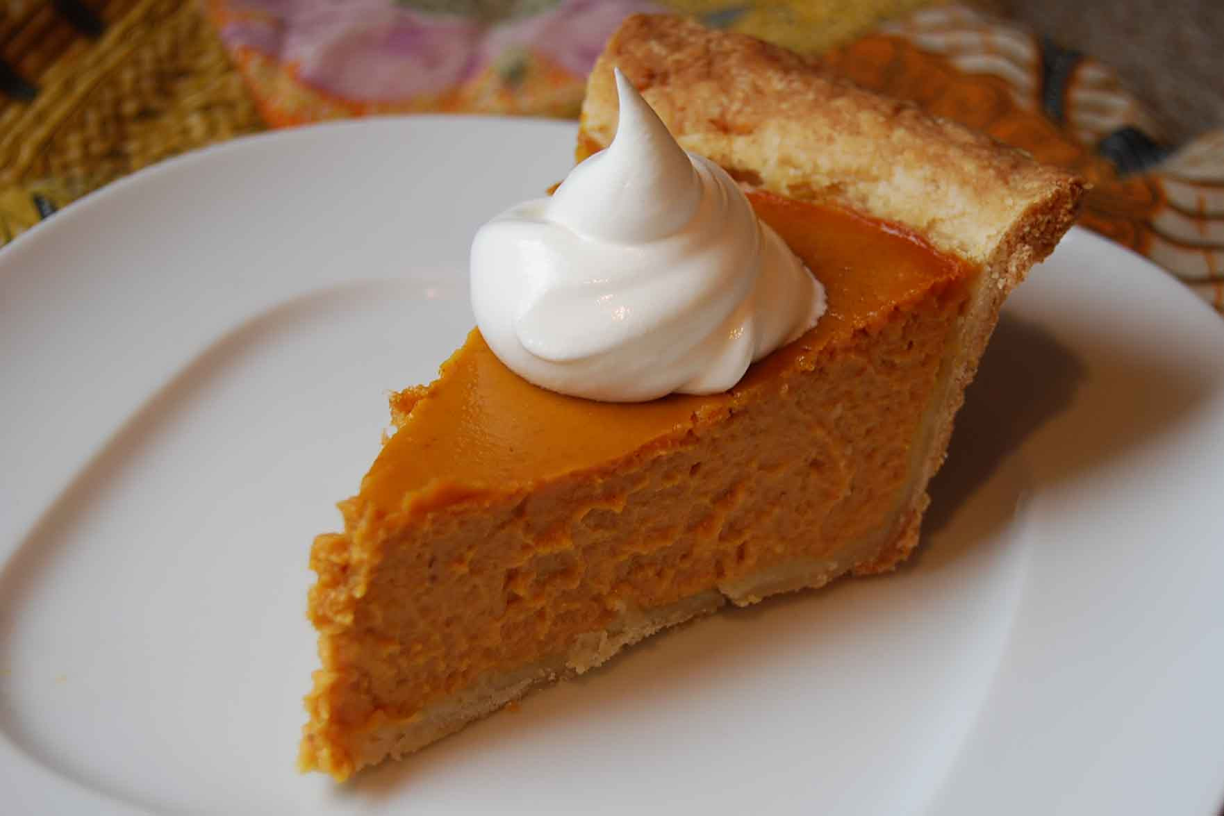 Thanksgiving Pumpkin Pie  Dessert
