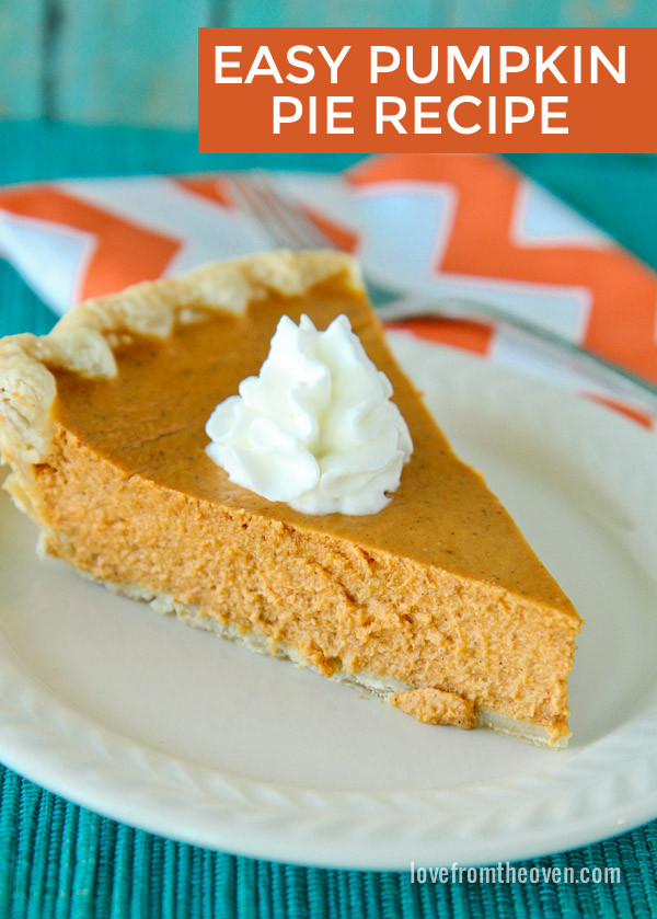 Thanksgiving Pumpkin Pie Recipe  1000 ideas about Pumkin Pie on Pinterest