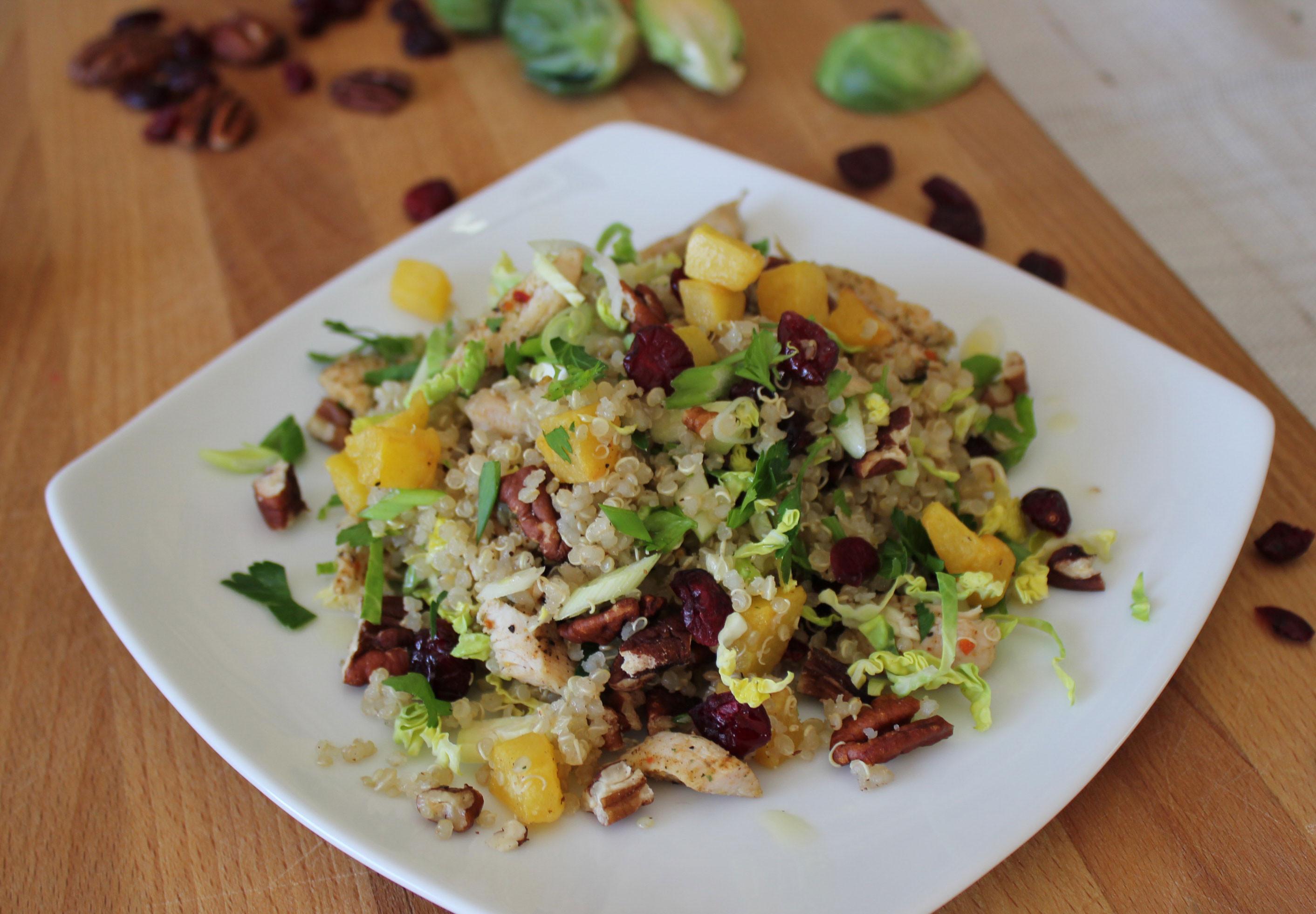 Thanksgiving Quinoa Salad  Leftover Turkey Quinoa Salad