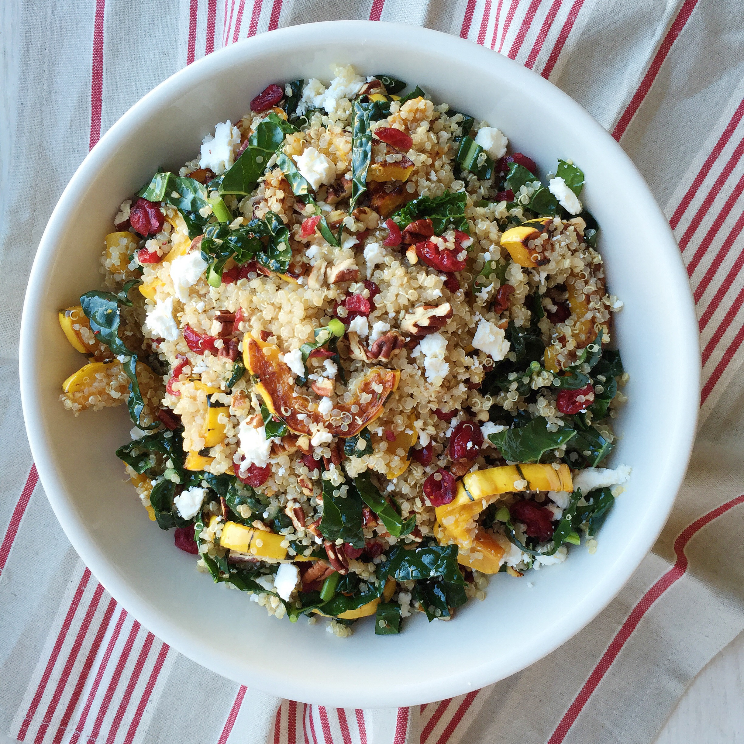 Thanksgiving Quinoa Salad  Best Quinoa Salad With Roasted Squash Dried Cranberries