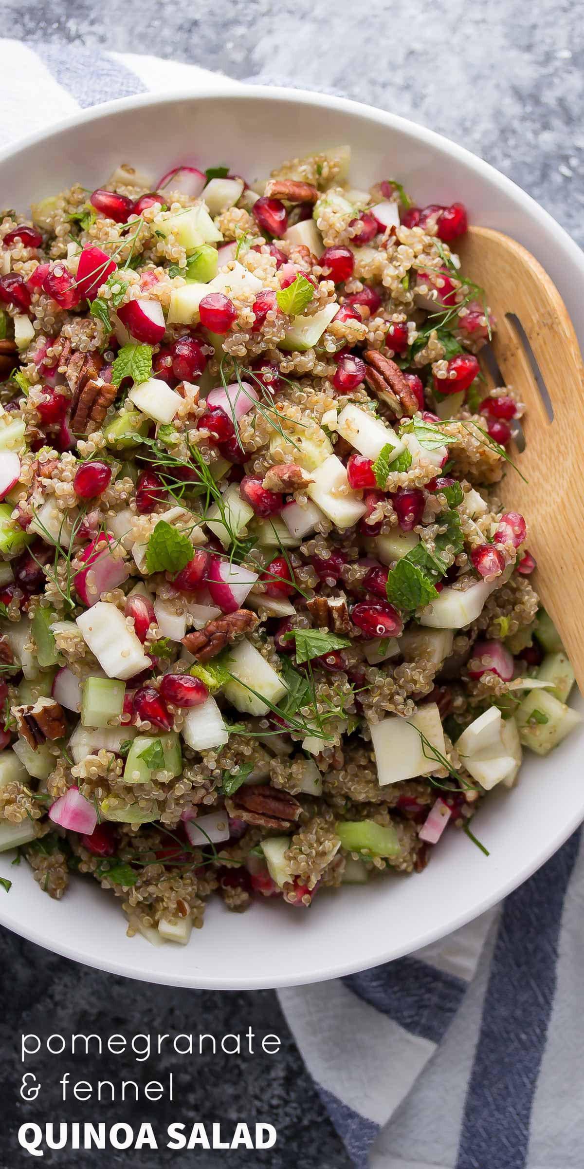 Thanksgiving Quinoa Salad  Fennel and Pomegranate Quinoa Salad