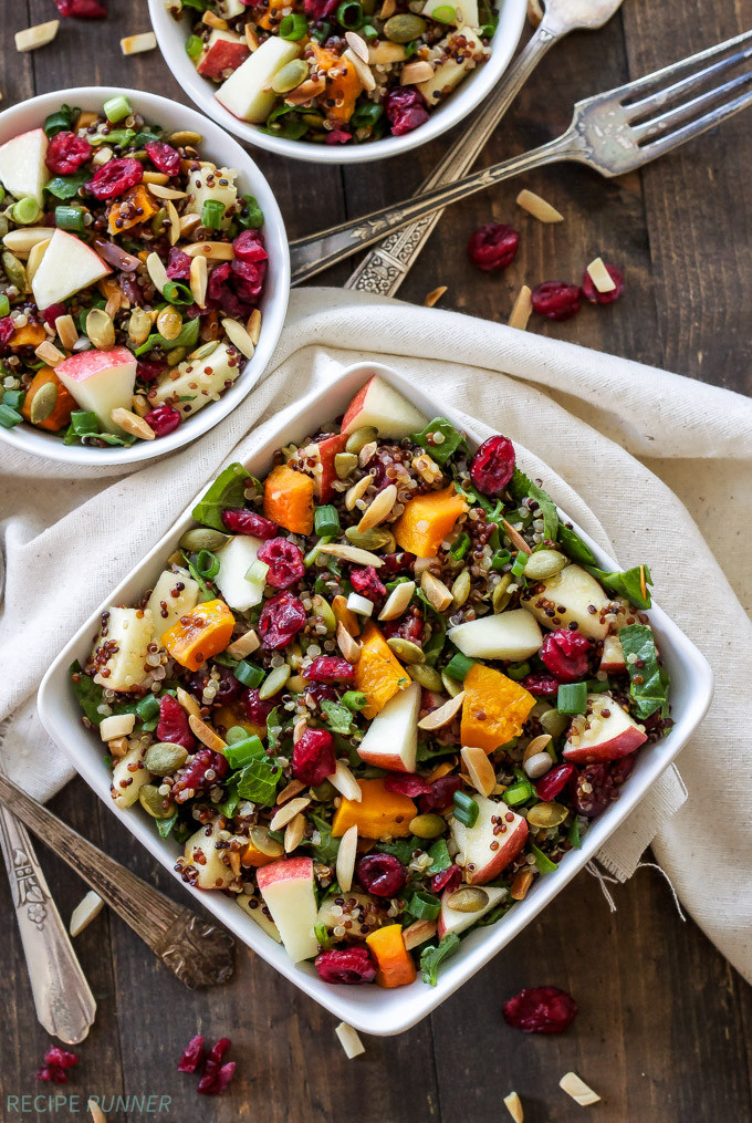 Thanksgiving Quinoa Salad  Harvest Quinoa Salad Recipe Runner