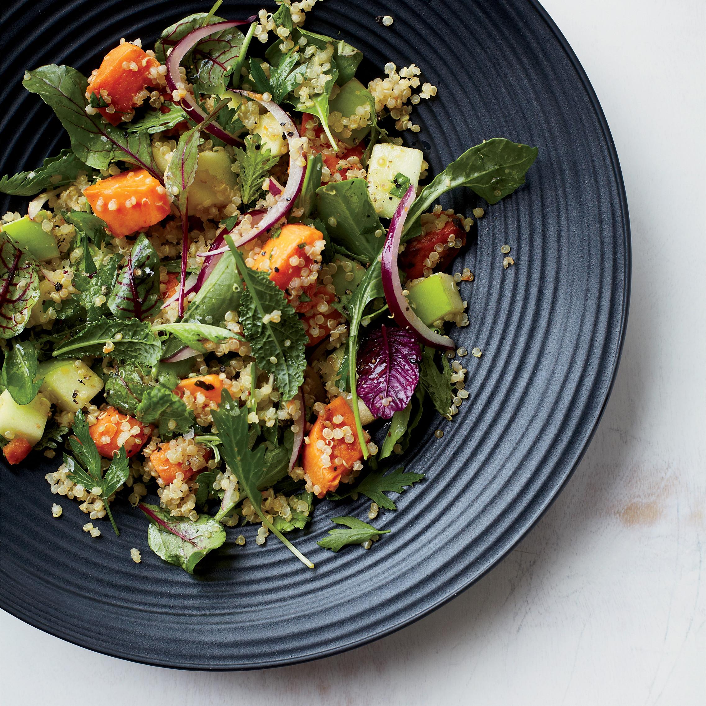 Thanksgiving Quinoa Salad  Quinoa Salad with Sweet Potatoes and Apples Recipe Grace
