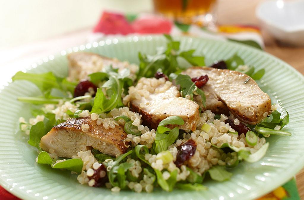 Thanksgiving Quinoa Salad  Turkey Quinoa Salad with Cranberries tario Turkey