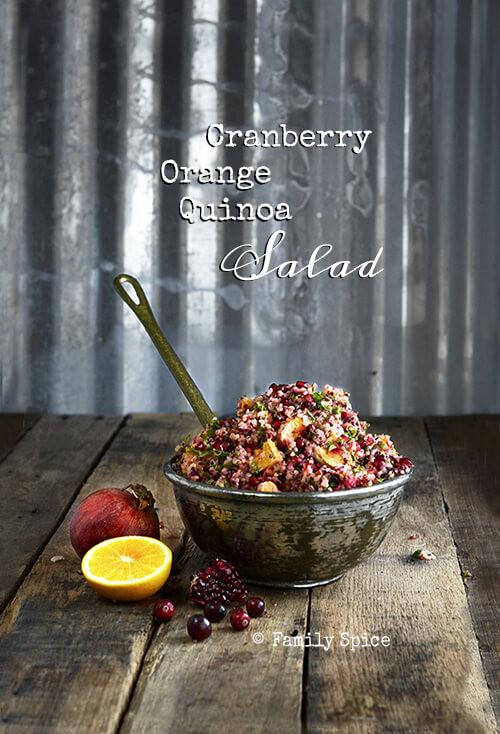Thanksgiving Quinoa Salad  Easy Thanksgiving Meals Cranberry Orange Quinoa Salad