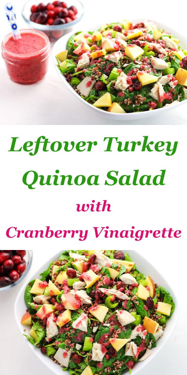 Thanksgiving Quinoa Salad  Leftover Turkey Quinoa Salad with Cranberry Vinaigrette