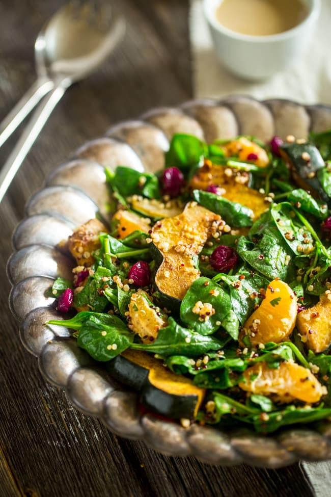 Thanksgiving Quinoa Salad  Roasted Acorn Squash Quinoa Salad