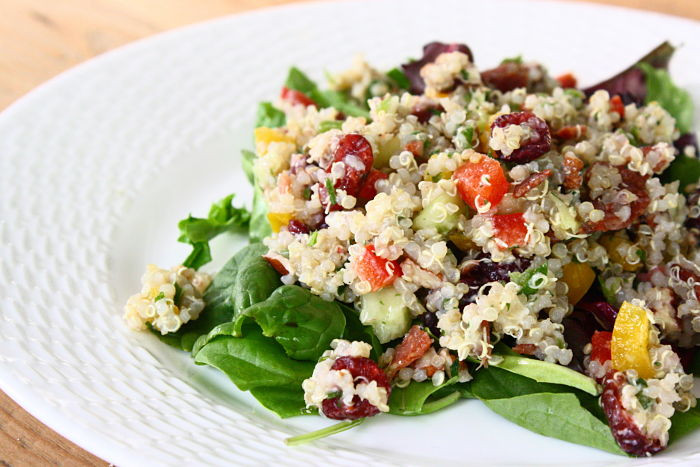 Thanksgiving Quinoa Salad  Quinoa Salad with Sweet Bell Peppers Dried Cranberries