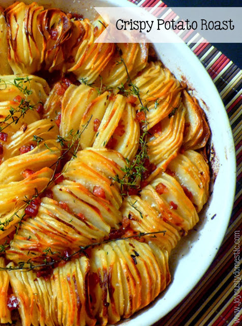 Thanksgiving Roasted Potatoes  Joyously Domestic Crispy Potato Roast