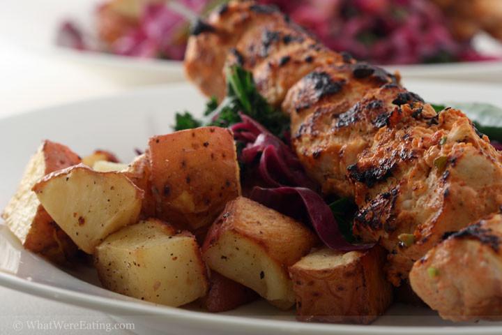 Thanksgiving Roasted Potatoes  'Tang'erific Tandoori Turkey Kabobs What We're Eating