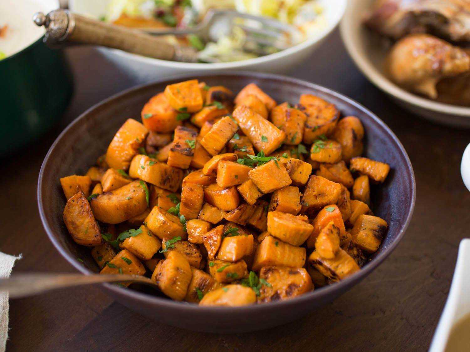 Thanksgiving Roasted Potatoes  The Best Roasted Sweet Potatoes Recipe