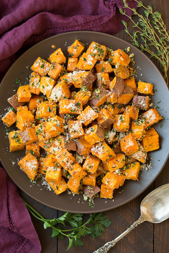 Thanksgiving Roasted Sweet Potatoes  20 Easy Thanksgiving Side Dishes Best Recipes for