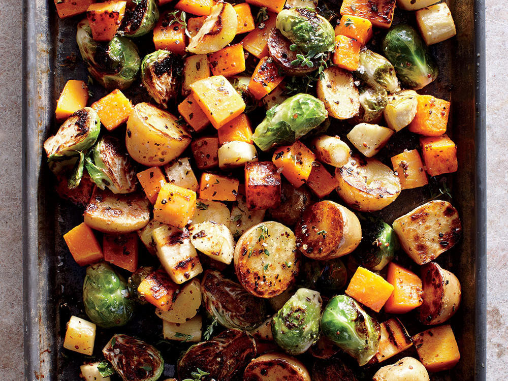Thanksgiving Roasted Vegetables  Healthy Holiday Recipes and Menus Cooking Light